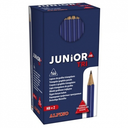 Lápiz grafito HB Triangular Alpino Junior Tri