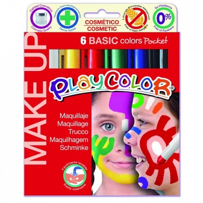 Maquillaje oro PlayColor Make Up Basic Pocket 6 un.