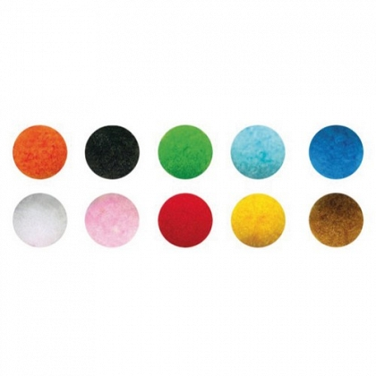 Pompones surtidos colores brillantes 5cm pack 52 un. Smart